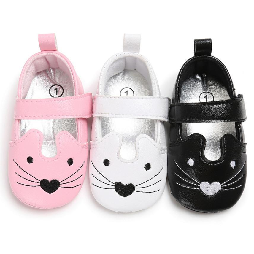 efa9070bcc63 2019 TELOTUNY 2018 Shoes Kids Baby Girls Infant Newborn Toddler Baby Girls  Cat Crib Shoes Soft Sole Anti Slip Sneakers UK A6 From Orchidor