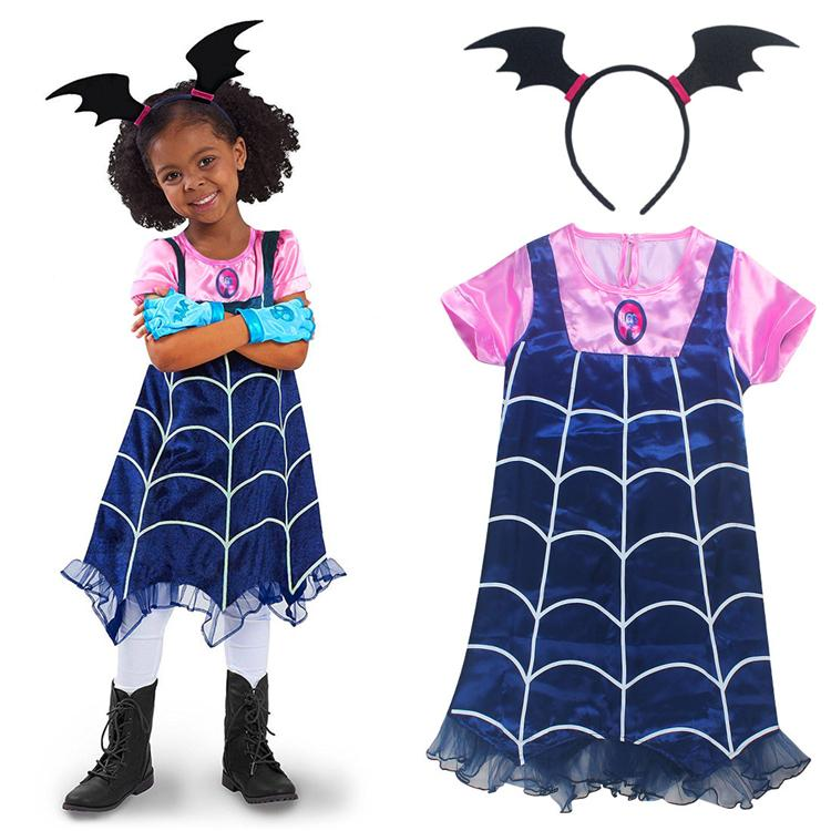 2019 Vampirina Girls Dresses 29 Years Old Baby Girls Party Dress