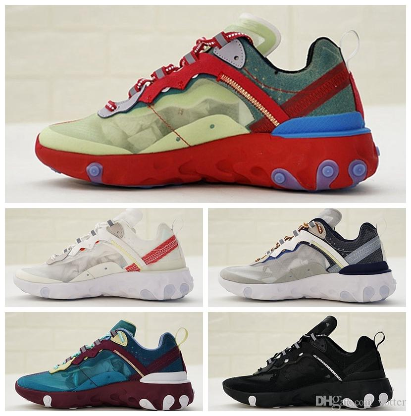 ed96acbcfa9d 2018 New UNDERCOVER X Upcoming React Element 87 Pack Sneakers Brand Men  Women Trainer Womens Brand Designer Running Shoes Zzapatos With Box  Lightweight ...