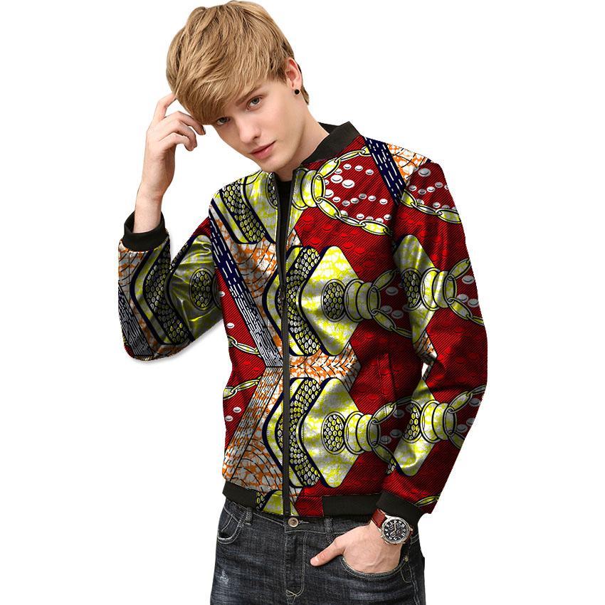 824f4e69f1 Dashiki Clothes Men Africa Pattern Print Stand Collar Ankara Coats African  Jacket African Print Coats Male Africa Clothing Jean Jacket Fur Collar  Jacket ...