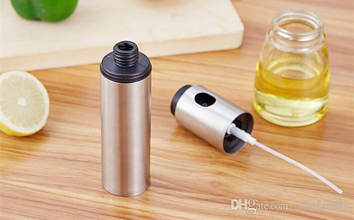 1 Stücke Edelstahl Sprühpumpe Feine Nebel Olive Pump Sprühflasche Öl Sprayer Pot Kochwerkzeug