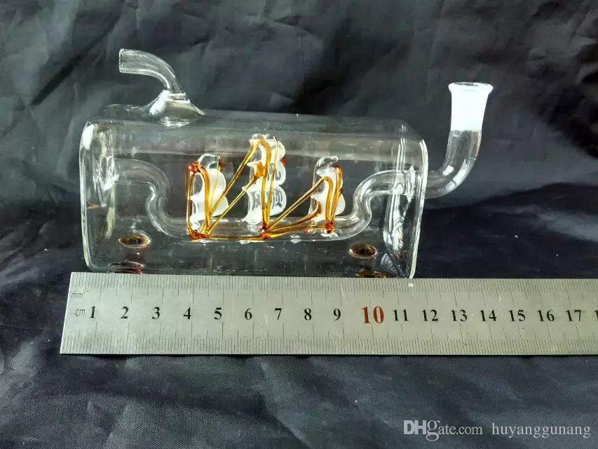 Segeln Kreuz Tube Hukahn Großhandel Glasbongs Ölbrenner Glas Wasserleitungen Öl Raucher Rauchenfrei