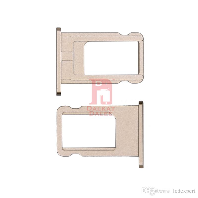 Nano SIM Card Slot Tray Holder Replacement Part Adapter Kit Fix for Iphone 6 Parts for iphone 6 6g i6 Gray Gold Silver