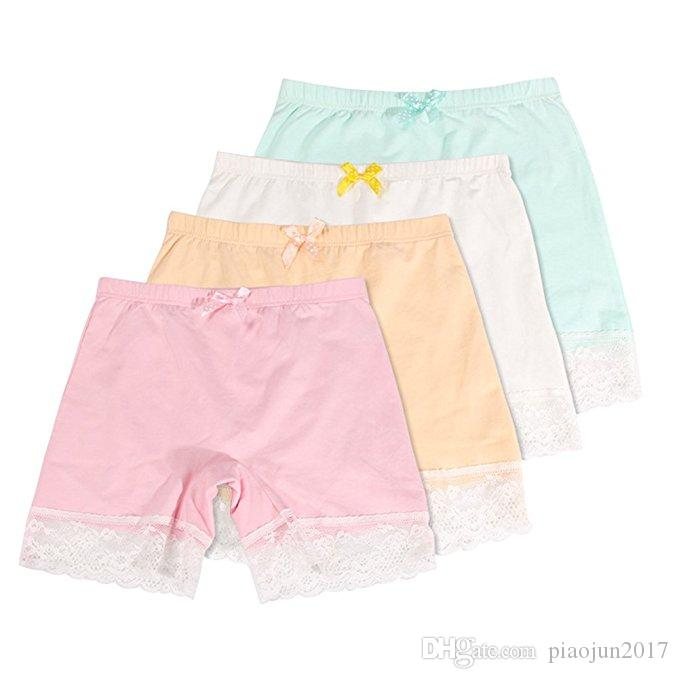 e81b1b787 2019 Girls Lace Underwear Briefs, Dance, Bike Shorts ,4 Packs Safety  Legging Panties For Sports Or Under Skirts From Piaojun2017, $14.39 |  DHgate.Com