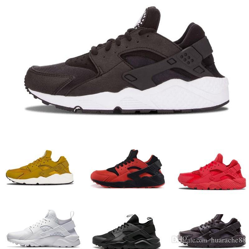 149a7e69d37 2019 Air Huarache 1.0 4.0 Running Shoes For Women Mens White Triple Black Huaraches  Sports Sneakers Trainers Walking Shoes Trail Running Shoes From ...