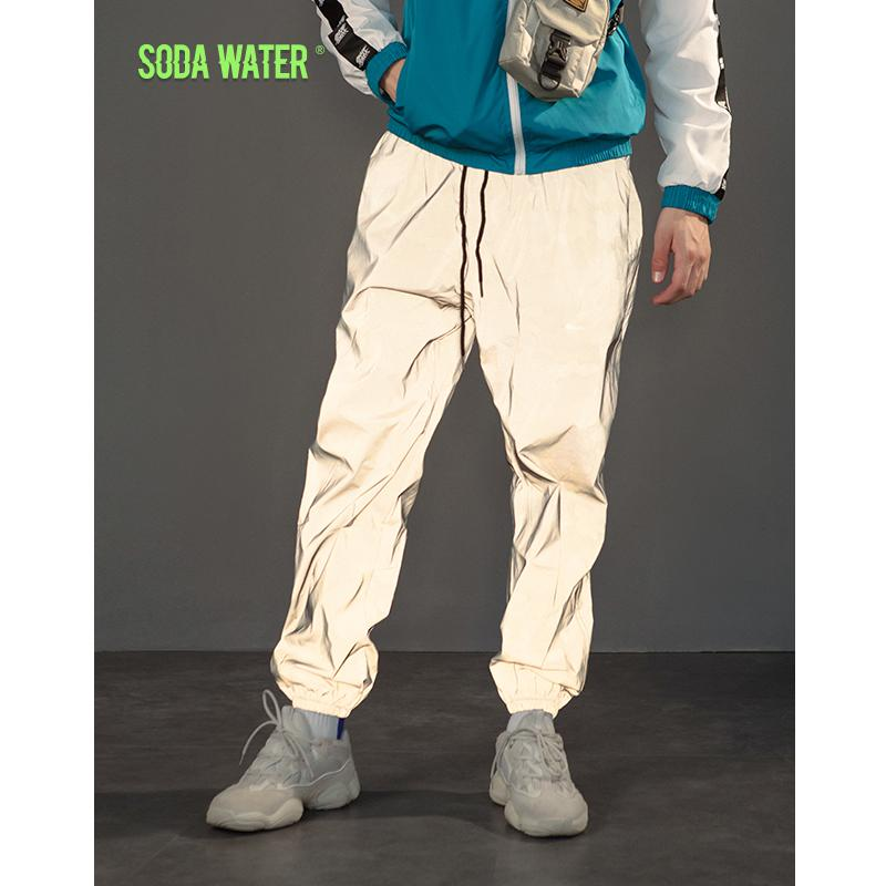 Compre SODA AGUA Pantalones De Chándal Reflectantes Sólidos Hip Hop  Elástico Wasit Pantalones De Chándal Pantalones De Hombre Pantalones  Tácticos 8907WS A ... 10990d6d887