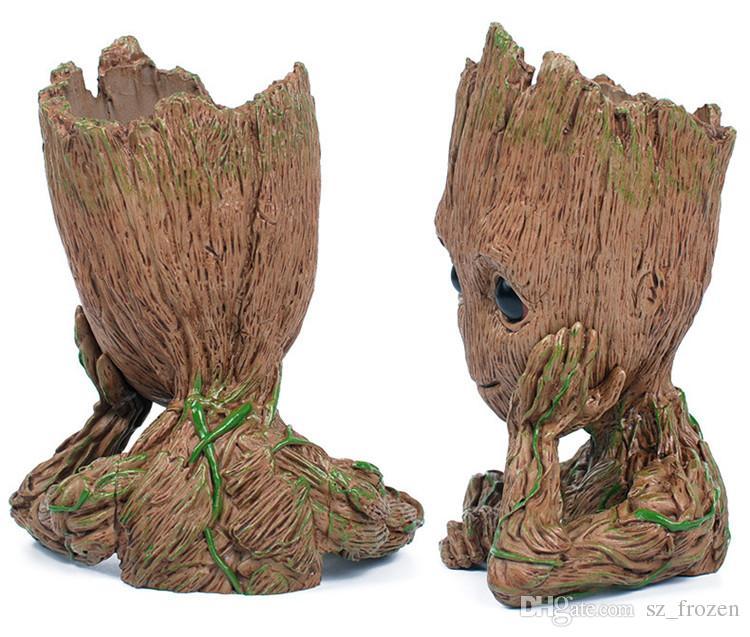 Gardiens de la mode de la galaxie Flowerpot bébé Groot Figurines modèle mignon jouet Pen Pot meilleurs cadeaux de Noël pour les enfants A-551