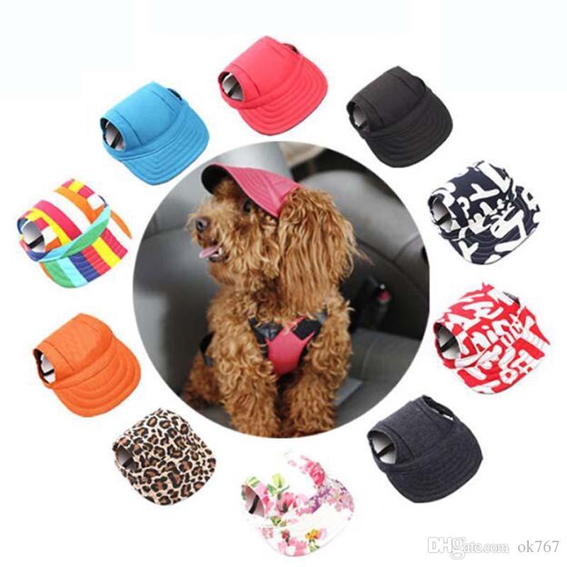 2019 Summer Pet Dog Cute Print Cap Baseball Hat Small Dog Outdoor Canvas 6c1b21356f26