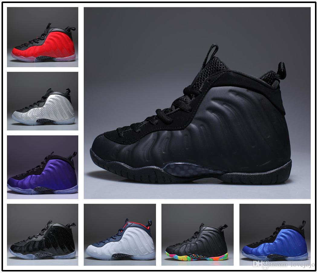 newest collection 03e5a d5fa7 2018 New Kids Air Penny Hardaway Galaxy One 1 Boys Basketball Shoes Olympic  Sneakers Training Sports Shoes