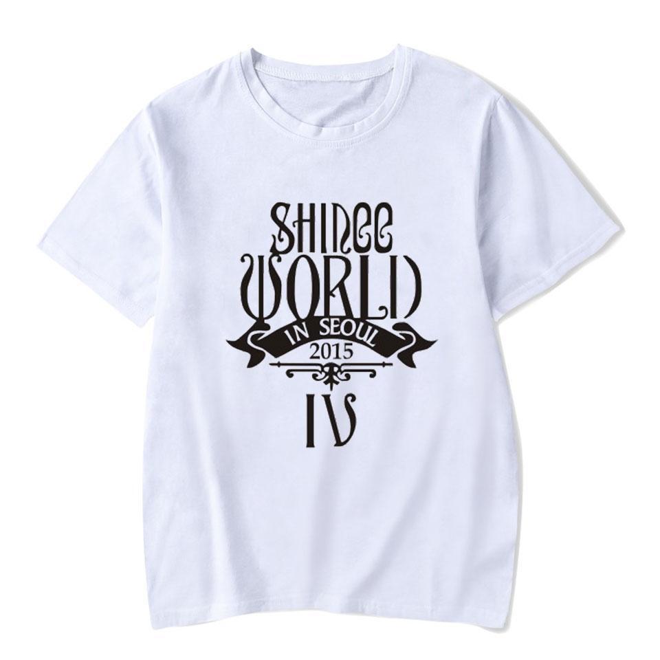 ec0254f4fc1aca Großhandel Voltreffer Shinee Kpop Weißes T Shirt Frauen Baumwolle K Pop  Koreanische Damen Streetwear Mode Lässig Kawaii Frauen T Shirts Für Den  Sommer Von ...