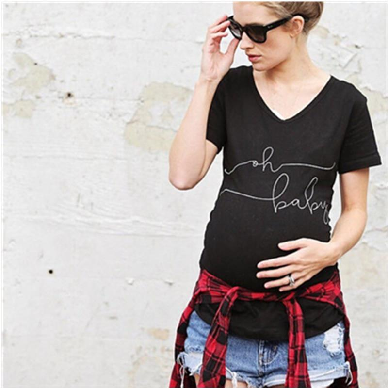 67e049a06fdb6 2019 Funny Short Sleeve Maternity T Shirt Comfortable Cotton Graphic  Maternity Tees TShirt Maternity Tops T Shirts For Pregnant Women From  Roohua