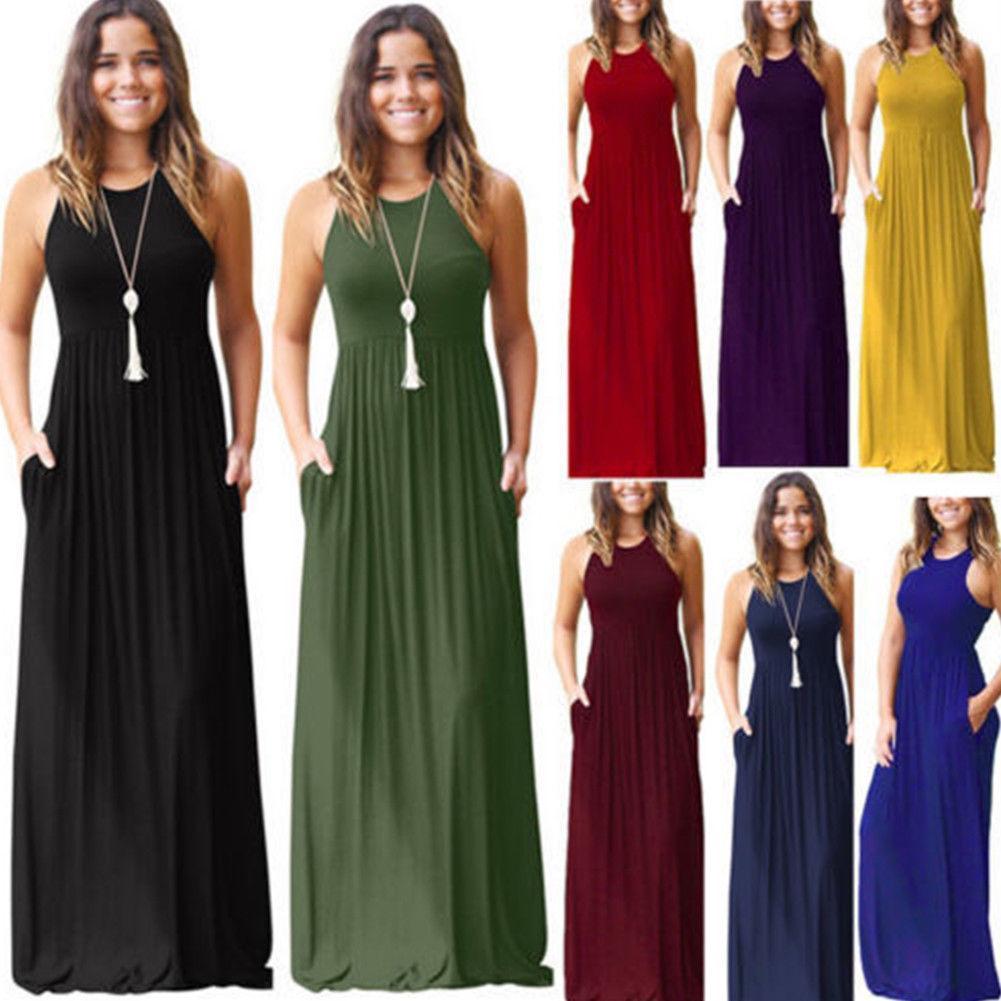 fd2eef13f8 Women Summer Boho Chiffon Party Evening Beach Dresses Long Maxi Dress  Sundress Women'S Clothing Evening Dresses Plus Size Teen Party Dresses From  Besttbuy, ...
