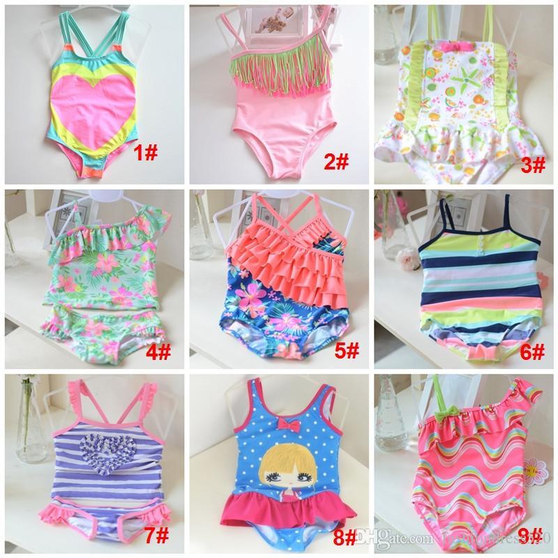 039a328c62 2019 9 Styles Fashion Children Swimsuits Girls Floral Suspender Falbala  Skirt Siamese Swimsuit Kids Spa Beach Swimwear Child Swimwear 1 10T DHL  From ...