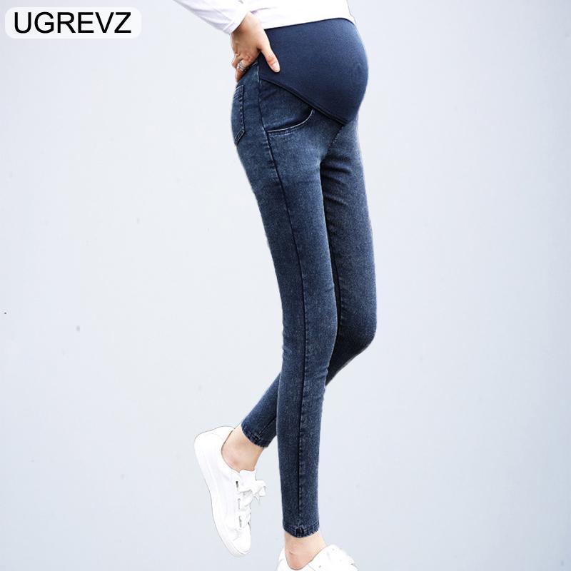 26fe21721 Compre Jeans De Maternidad Para Mujeres Embarazadas Embarazo Spring Fall  Jean Pants Ropa De Maternidad Para Mujeres Embarazadas Summer Nursing  Trousers A ...