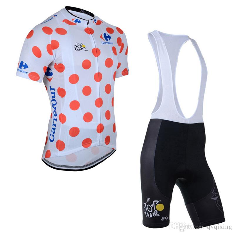 TOUR DE FRANCE team Cycling Short Sleeves jersey bib shorts sets Spring and summer bike Jersey suit for men's F0501