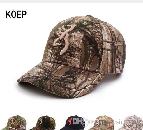 3d9e0287db38f KOEP Browning Camo Baseball Cap Fishing Caps Men Outdoor Hunting Camouflage  Jungle Hat Airsoft Tactical Hiking Casquette Hats Cap Hat Flat Caps For Men  From ...