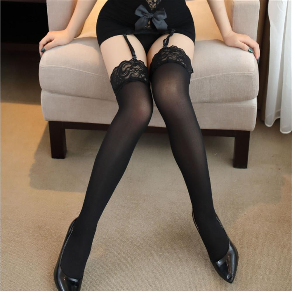 Above told Sexy legs black stockings that