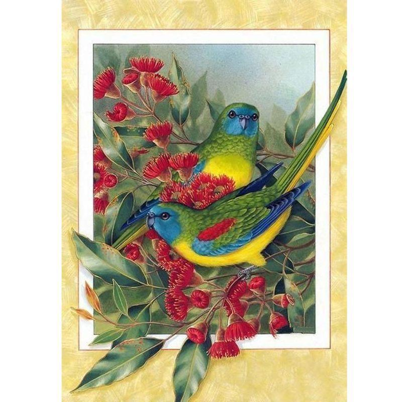 Needle Arts & Crafts 5d Diy Diamond Painting Full Circular Diamond Parrot Embroidery Cross Stitch Rhinestone 2019 Painting Home Decor Gift