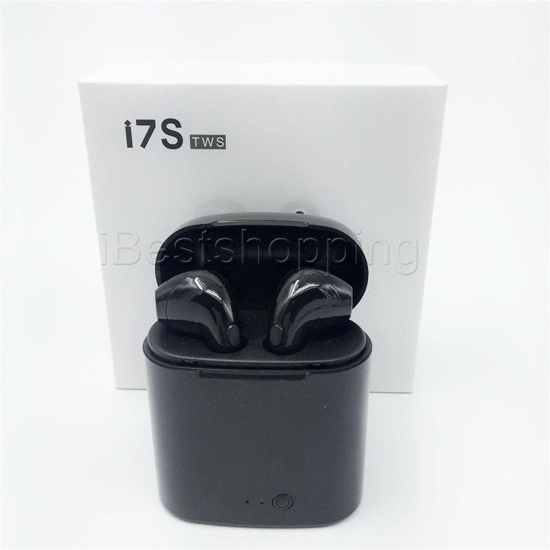 Doble oído i7S TWS Gemelos Bluetooth Auricular V5.0 Auriculares inalámbricos con cargador Dock V5.0 Auriculares estéreo para iPhone Xr Xs mas S10 Android