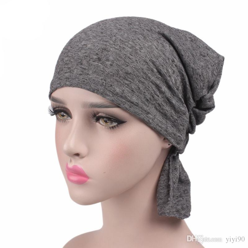 5108872dc12 New Print Cotton Chemo Head Scarf Turban Hat Sleep Cap Headwear Ethnic Wrap  Ruffle Beanie For Cancer Funny Hats Baseball Hat From Yiyi90