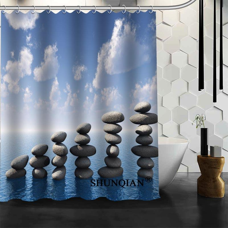 2019 Custom Stone Shower Curtain New Arrival Bathroom Accessories Bath Screens Customized From Hariold 2882