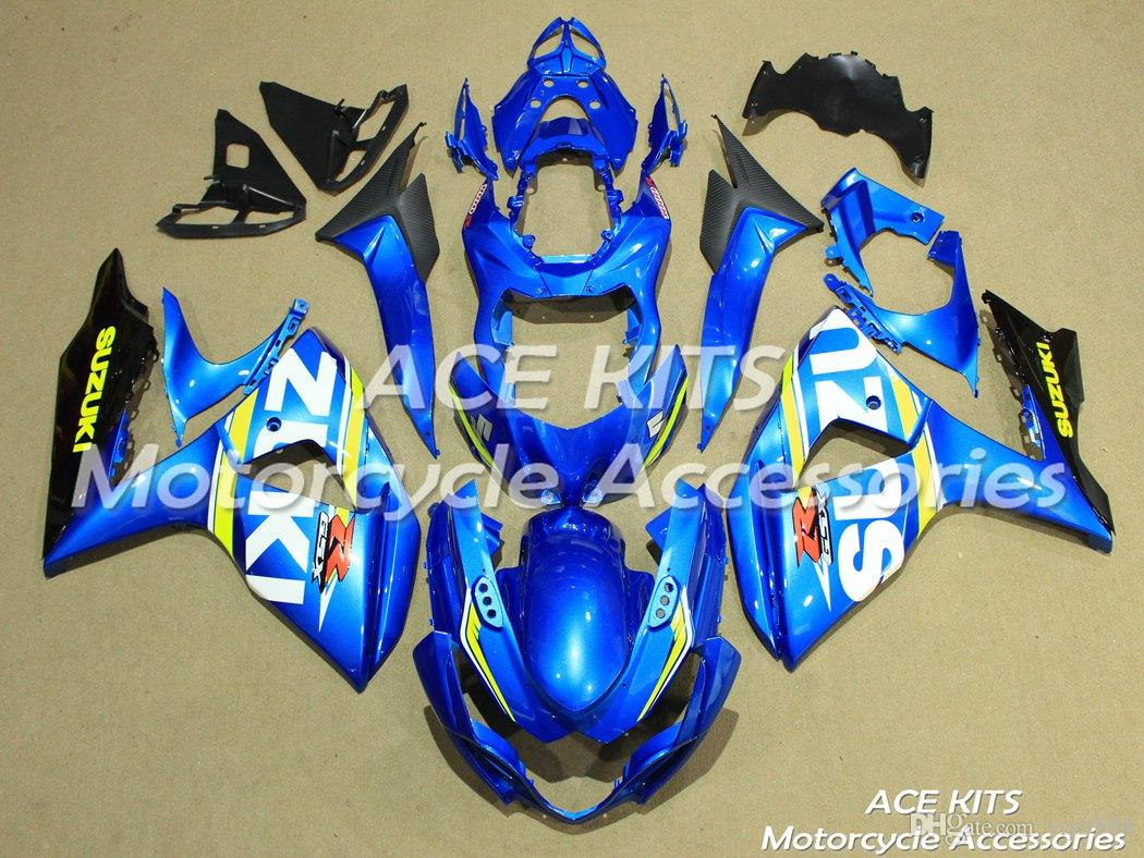 ACE Motorcycle Fairings For SUZUKI GSX-R1000 K9 2009 2010 2011 2012 2013 2014 2015 Compression or Injection Bodywork Blue No.411