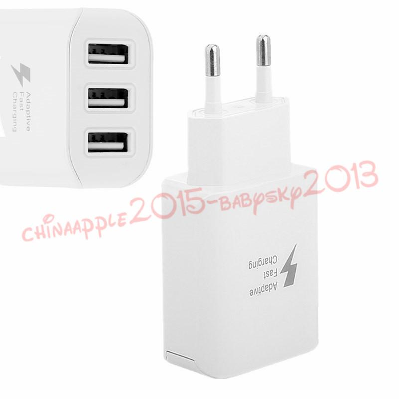 3 Usb Ports Fast Charger Mobile Phone Charger EU Plug 5V 2A Smart Fast Charging Mobile Wall Adapter for iphone 7 8 x samsung android phone