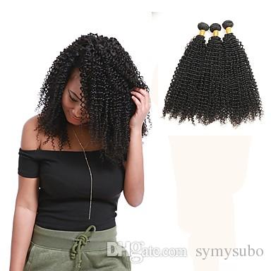 Very cheap product. Kinky Curly Brazilian Hair Weave Bundles 100% Human Hair Hair Extensions /100g Unprocessed Double Weft