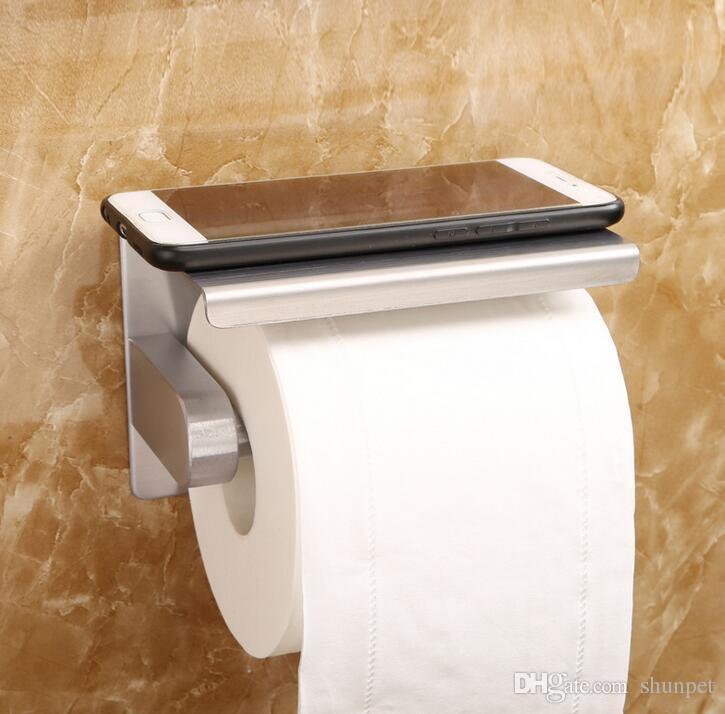 Stainless Steel Bathroom Paper Phone Holder