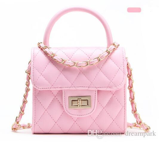 f351b9b7315 17*15.5CM PU Girls Bags Chain Cross Bag Handbags Children Accessories  Messenger Bag Gift BB008 Small Purses For Kids Girls Purse Online From  Dreampark, ...