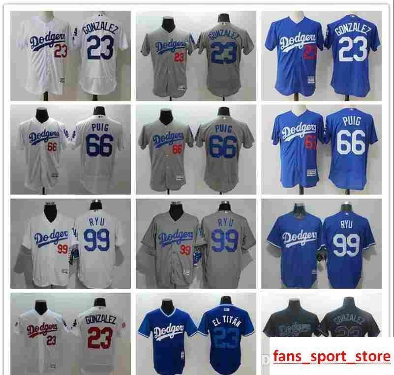 726b59f5909 2019 Men s Women Youth LA Dodgers Baseball Jersey  23 Adrian Gonzalez 66  Yasiel Puig 99 Hyun-Jin Ryu fashion 100% stitched Baseball Jer