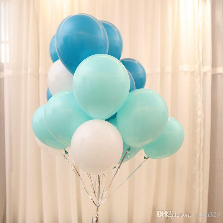10 Inch Wedding Party Decorations Matte Latex Balloon Baby Room Layout Tiffany Blue Balloons From