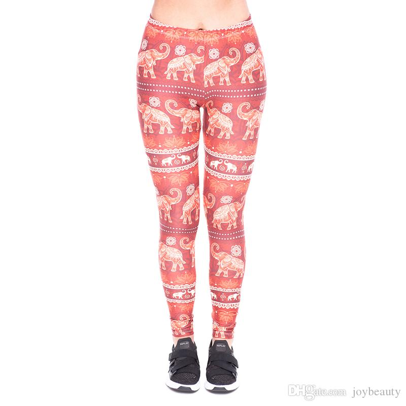 e6ab0143b3907 2019 Women Leggings Elephant Ornament 3D Print Lady Skinny Stretchy Yoga  Wear Pencil Pants Casual Jeggings Sport Capris Trousers New YX52100 From  Joybeauty, ...