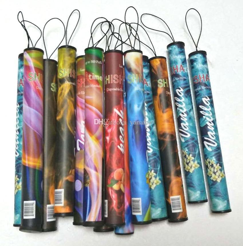 E ShiSha Hookah Pen Disposable Electronic Cigarette Pipe Pen Cigar Fruit Juice E Cig Stick Shisha Time 500 Puffs Colorful 35 Flavors