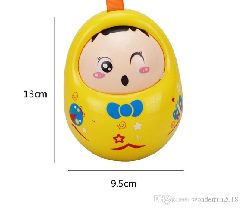 Baby Toys Rattles Nodding Matlyoshka Tumbler Doll Sweet Bell Music Roly-poly Learning Educational Toys Xmas Gifts