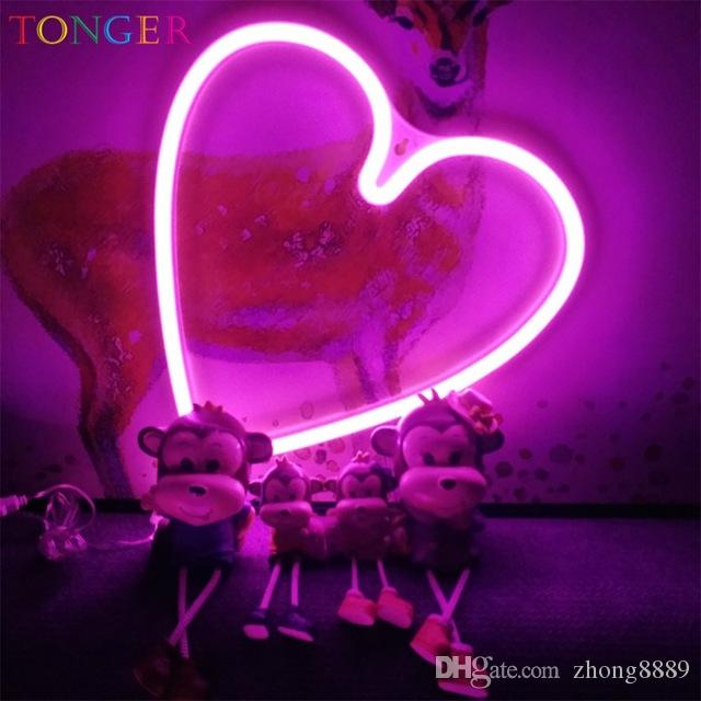 Led Lights Decoration AA Battery Powered Unicorn Neon Lamp Pink Flamingo  Led Bulb Light Neon Lights Bedroom Decoration Marquee Neon Signs