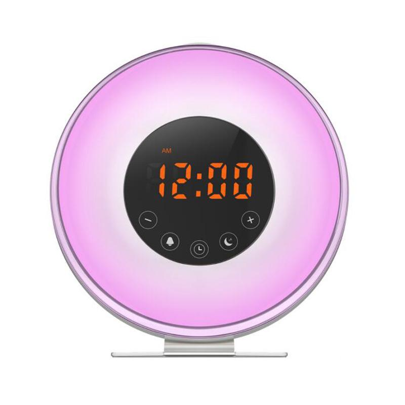 7fb462943a4 2019 Sunrise LED Lights With Digital Alarm Clock Wake Up FM Radio ...