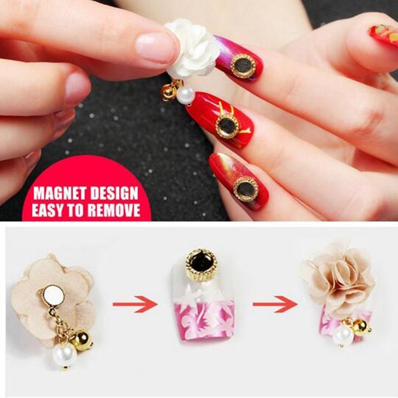 10pcs / lot gel vernis autocollants pour ongles nail art décorations  manucure japonais ongles bijoux amovible aimant pendentif magnétique
