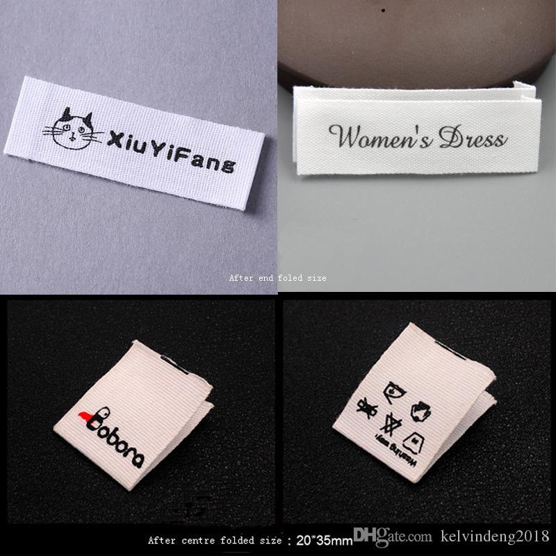 887731c789a0f free shipping custom clothing white cotton label/cotton tag  printing/garment main labels/shirt labels/logo/brand 1000 pcs