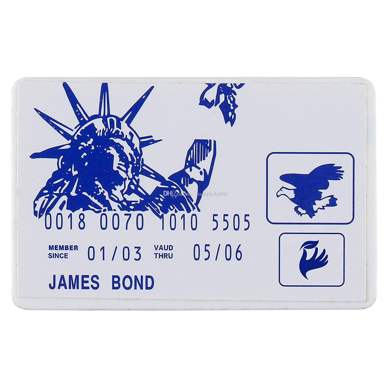 Ensemble de choix de serrure à carte de crédit «JAMES BOND» - Meilleur ensemble de pince à portefeuille de poche de taille moyenne - Carte SecurePick Lock Secure Pro