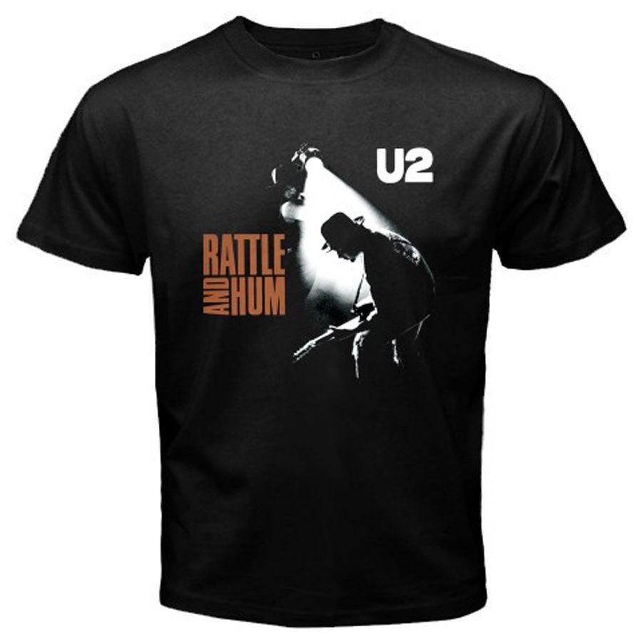 Compre Nuevo U2 Rattle And Hum Rock Band Camiseta Negra Para Hombre Talla S  A 3XL 100% Algodón Camiseta Para Hombre De La Marca 2018 Fashion O Neck A   11.01 ... a39d88f9a97e5