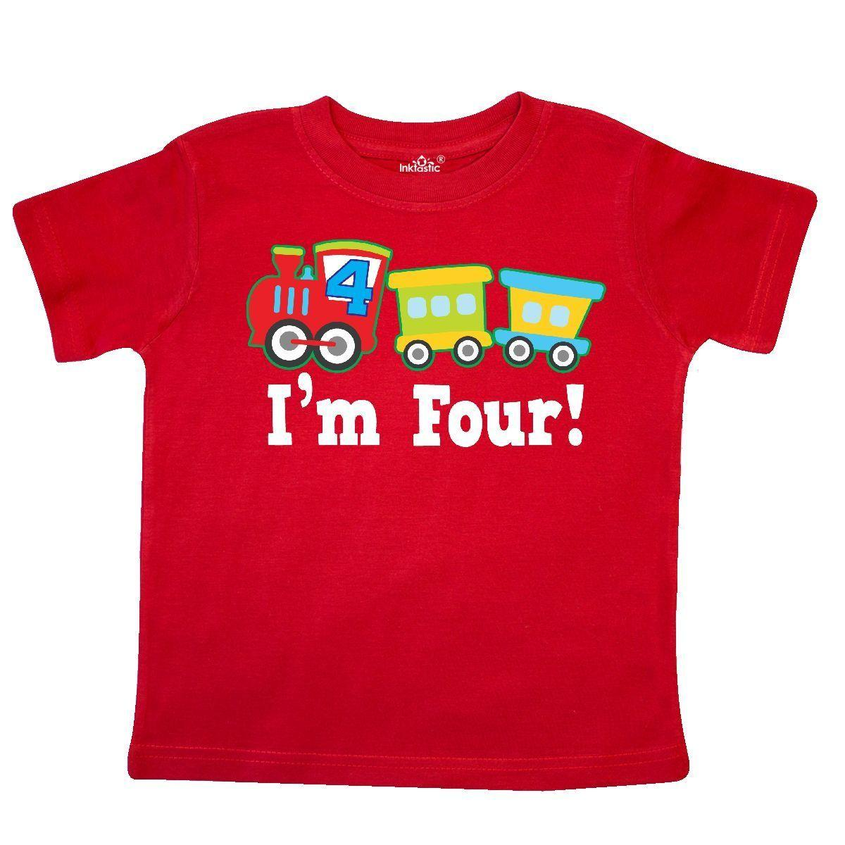 Inktastic 4th Birthday Train Outfit Toddler T Shirt 4 Year Old Themed Boys Party Funny Unisex Casual Tee Gift Deals Online Shopping Shirts