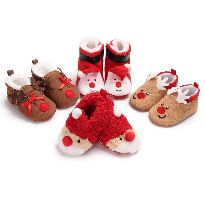 Christmas Boots For Girls.Xmas Toddler Girls Kids Christmas Boot Booties Shoe Newborn Baby Girl Winter Warm Soft Sole Prewalker Mocassins Snow Boots Shoes