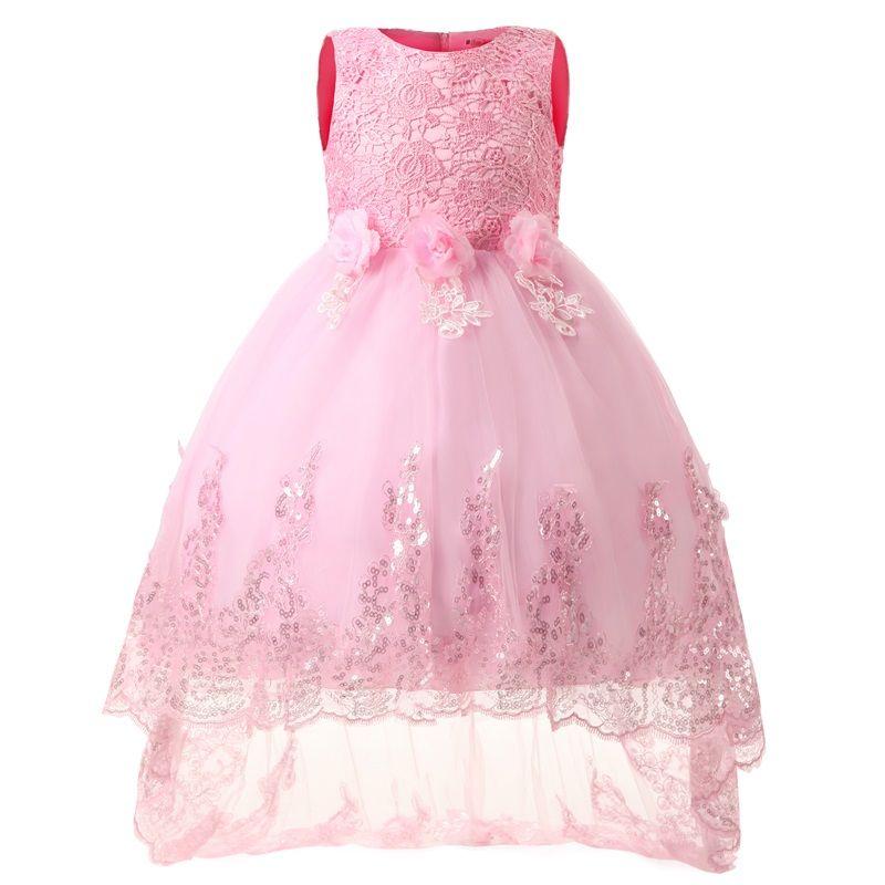 Flower Girl Dresses Kids Fancy Party Christmas Halloween Dress Chiffon Shining Girls Ball Gown Princess Clothes For Children