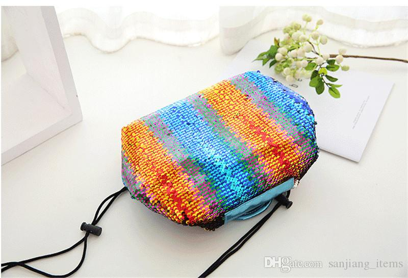 ad8c440afdc8 2019 Vely Mermaid Sequins Drawstring Cosmetic Bags Makeup Bags 56 66cm  Magic Sequins Two Sides Storage Bags Pouch From Sanjiang items