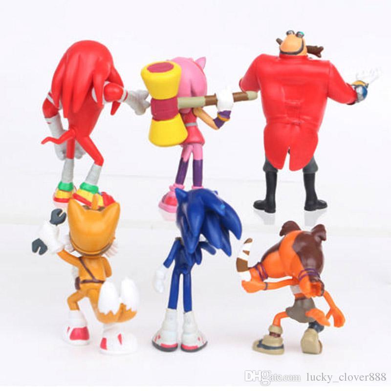 SEGA سونيك القنفذ سونيك بوم ايمي الذيول المفاصل د. إغمان دمية PVC عمل الشكل تمثال مجموعة اللعب لعبة كعكة الاطفال هدية