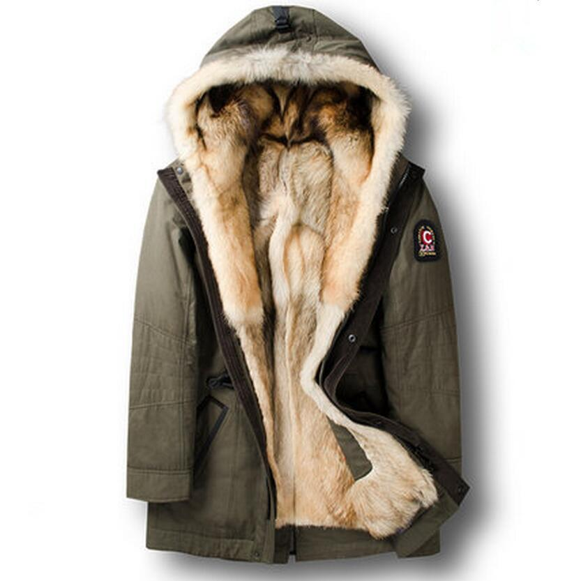 ddab0565cffb 2019 Men S Winter Coat Men Winter Trench Wolf Fur Liner With Hood Long  Style Thermal Outerwear HA 001 From Lvyou09