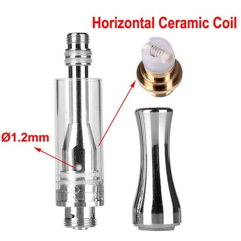 Best quality AC1003 Metal Pyrex Glass Tube Cartridges Tank Ceramic Coil 510 Thick Oil vapor A3 Cartomizer ecig Vape