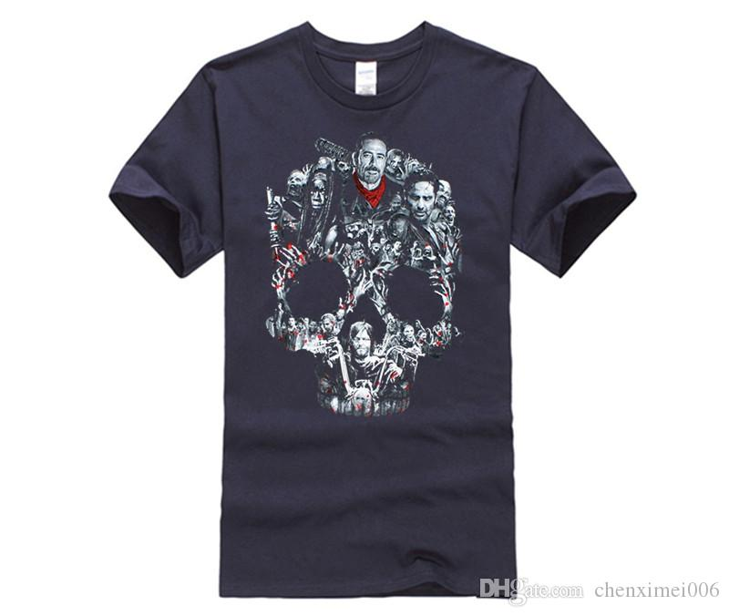 5ad5e02f7 MEN T SHIRT The Walking Dead Negan Skull Graphic T Shirt Men And ...
