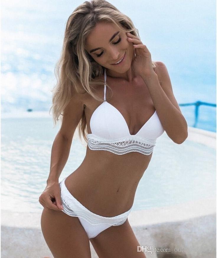 09c1c28335588 2019 2019 NEW Arrival Swim Wear Woman Triangle Bikini Suit Bandage Push Up  Swimsuit Bathing Beachwear Sexy Mankini Brazilian Bottom Hot Pants From ...